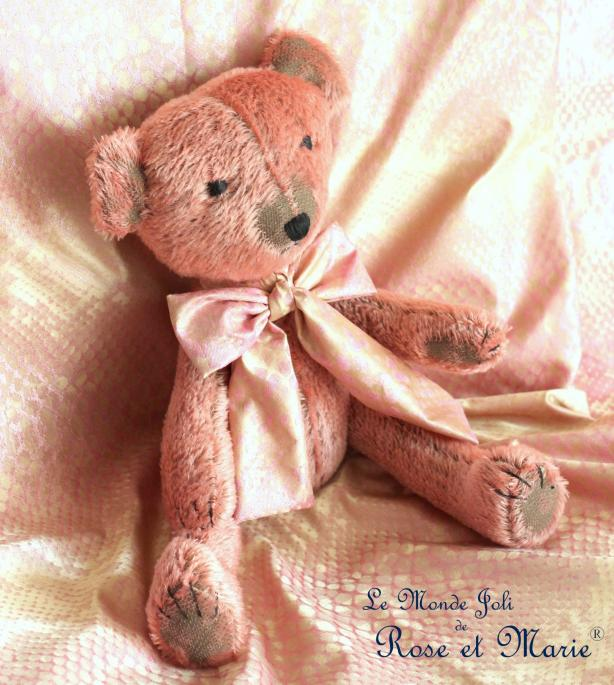Séraphine, grande ours en mohair - 42 cm