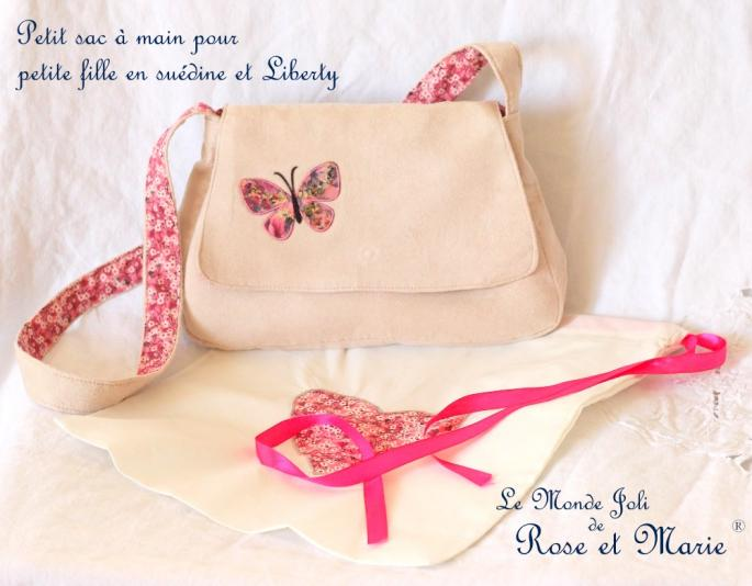 Petit sac à main enfant en Liberty - Le Monde Joli de Rose et Marie