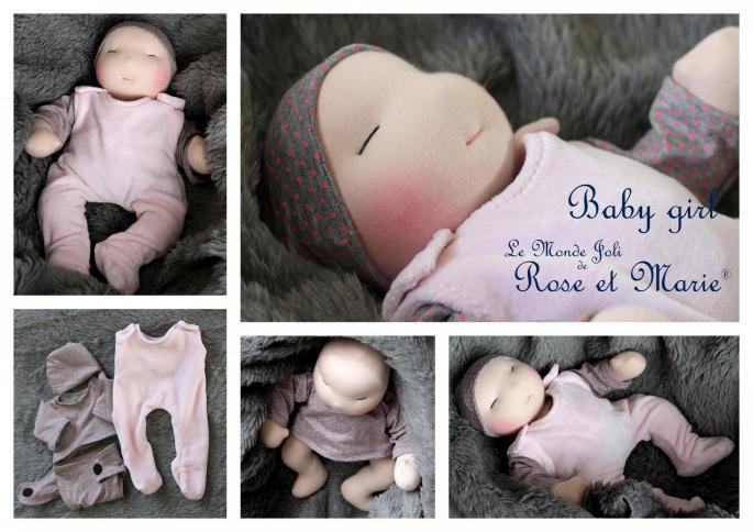 Bébé fille Le Monde Joli de Rose et Marie