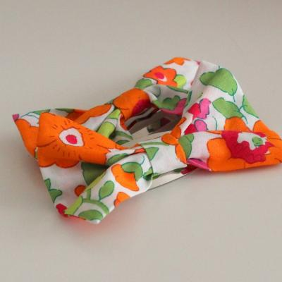 Barrettes Noeuds en Liberty Betsy orange