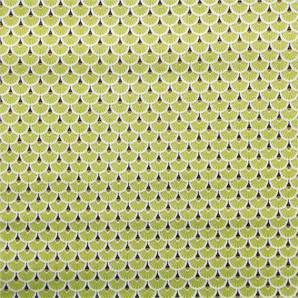 Tissu coton imprime oeko tex eventail